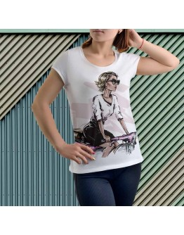 """T-Shirt """"She Ride"""" for ladies"""